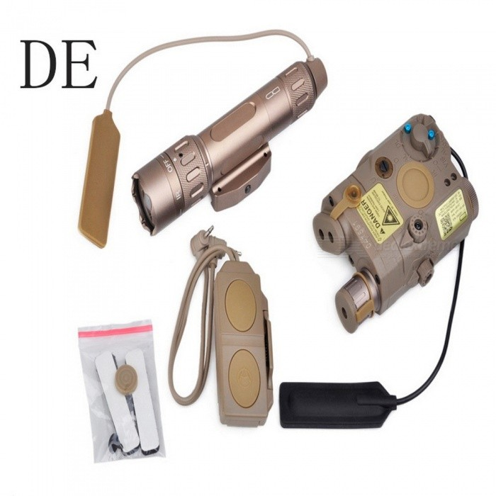 Element EX418 Tactical Light Combo Includes PEQ 15 WMX-200 Flashlight and Double Remote Control Switch