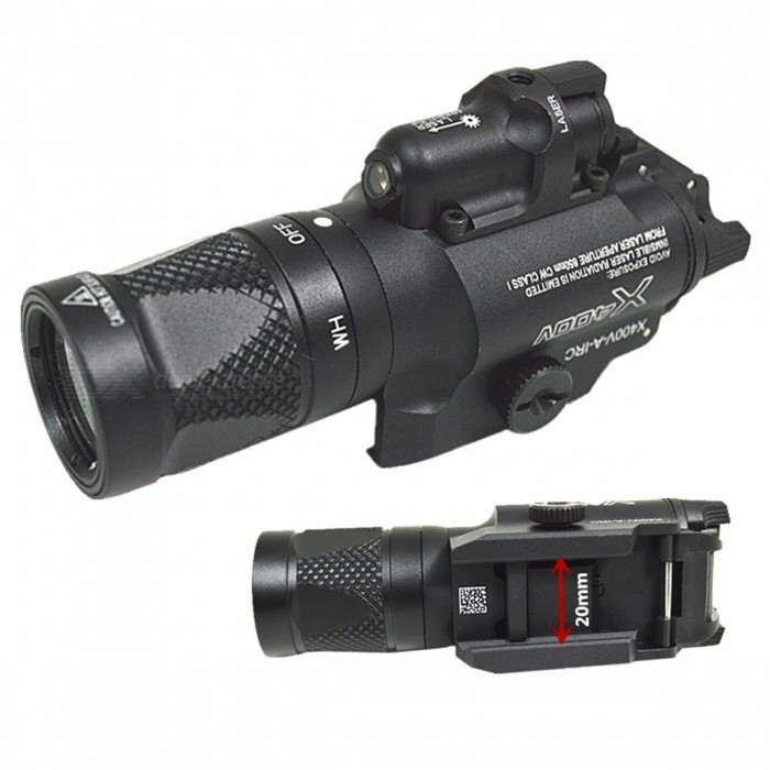 SFX400V-High-Quality-Pistol-Gun-Flashlight-With-Red-Laser-Sight-With-Blasting-Flash-Function-for-Hunting