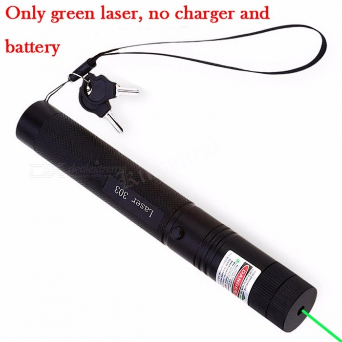 Green Laser Sight 532nm 10000m Lasers Pointer Powerful device Adjustable Focus Lazer with Laser 303, Charger, 18650 Battery