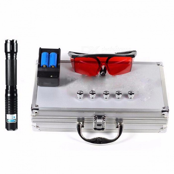 Powerful 445nm Burning Laser Torch 10000m Focusable Blue Laser Pointers Flashlight Burn Match Candle Lit Cigarette