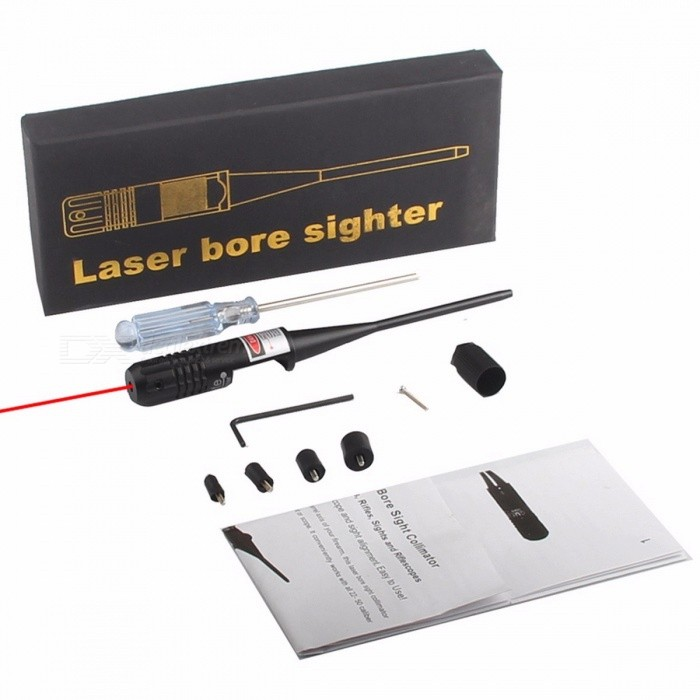HT40-0001 Tactical Red Dot Laser Bore Sighter Laser Scope 0.22-0.5 Five Caliber Rifle Hunting Airsoft Optical Boresighter