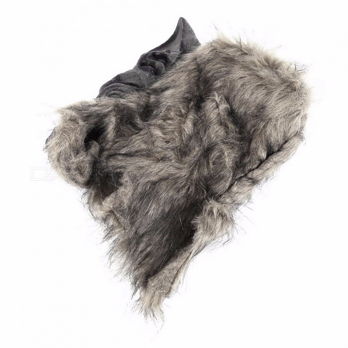 New Arrival Premium Latex Animal Wolf Head Hair Mask Hunting Decoy, Lifelike Fancy Scary Mask for Adults, Kids