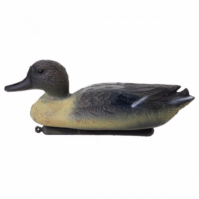 Durable Fishing Hunting Male Decoy, Plastic Lifelike Duck Decoy Drake w/ Floating Keel for Outdoor Camping Hunting