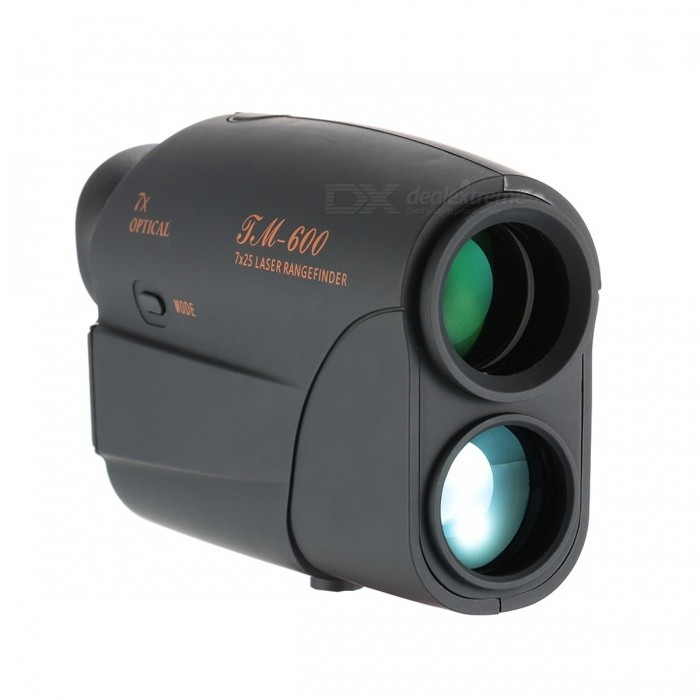 Outdoor Hunting Range Finder Laser Rangefinder 7x25 600/1000m Monocular Telescope Golf Rangefinder Distance Meter Speed Tester BlackDescription<br><br><br><br><br>Measurement Distance: 250<br><br><br>Operation System: Laser<br><br><br><br><br><br><br><br><br>Maximum Distance Range: 600m / 600 yard <br><br><br><br>This <br>powerful compact rangefinder boasts a ranging distance of 600 meters <br>with 7x magnification which gives you very close feeling to your target.<br> It also can measure the speed of a fast moving target up to 300km/h. <br>The compact and lightweight design allows you to take it wherever you <br>are, perfect for golf, hunting, construction survey and design, fire <br>alarm system and exploration.<br><br>Features:<br> Fully multi-coated optical lens.<br> 7X magnification, superior resolution and ultra clear images.<br> Display exact distance to target from 5m to 600m, with +/- one yard accuracy.<br> Accurately measure the speed of fast moving target, speed range: 300km/h.<br> Simple two button operation.<br> Durable water resistant housing.<br> Comfortable grip with ergonomic design.<br> Compact, lightweight, convenient to carry and use wherever you are.<br> Helpful measurement device for golf, hunting, construction survey and design, fire alarm system and exploration, etc.<br>600M<br>Specifications:<br> Magnification: 7X<br> Objective Lens: 25mm<br> Maximum Distance Range: 600m / 600 yard<br> Minimum Distance Range: 5m / 5 yard<br> Accuracy: ±1m<br> Field Angle: 7.5°<br> Speed Range: 300km /h<br> Wave Length: 905nm<br> Power Supply: 2 * AA battery (not included)<br> Item Size: 123 * 77 * 43mm / 4.8 * 3 * 1.7in<br> Item Weight: 187g / 6.6oz<br> Package Size: 170 * 135 * 70mm / 6.7 * 5.3 * 2.8in<br> Package Weight: 351g / 12.4oz<br><br>Package List:<br> 1 * Rangefinder<br> 1 * Carry Case<br> 1 * Cleaning Cloth<br> 1 * User Manual (English)<br><br><br>This powerful compact rangefinder boasts a ranging distance of 1000<br> meters with 7x magnification 