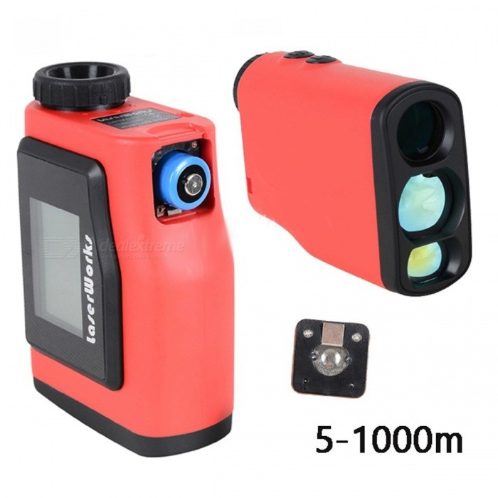 1000m Range Finder 6x25 Binoculars Golf Laser Range Distance Meter Rangefinder with disply and Angle Measurement for Hunting Red thumbnail