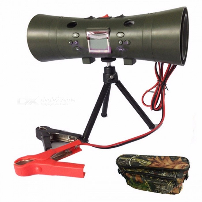 New Electronic 200 Sounds Hunting MP3 Bird Caller Hunting Decoy with Built-in 2Pcs 35W Speakers and Timer