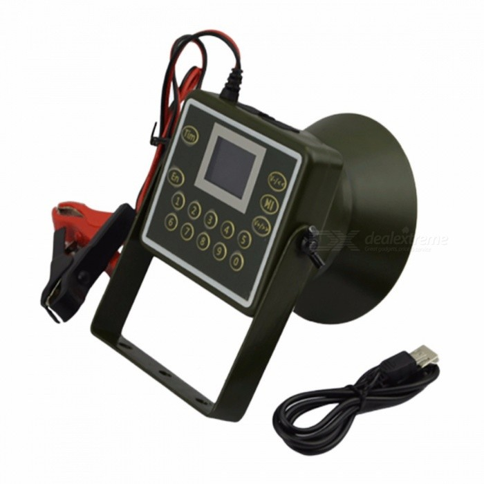 Portable Small Outdoor Waterproof Desert Proof Electronic Hunting Decoy Tool, Bird Caller Megaphone with LCD Display