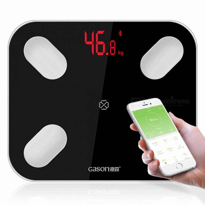 GASON S4 Electronic Body Fat Scales Floor Scientific LED Digital Weight Bathroom Household Balance Bluetooth APP Android or IOS