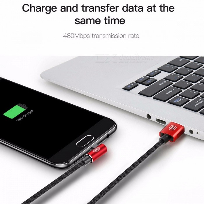 Baseus Reversible Micro USB 2A Fast Charging / Data Sync Cable for Samsung Xiaomi Huawei Tablet Android Phones