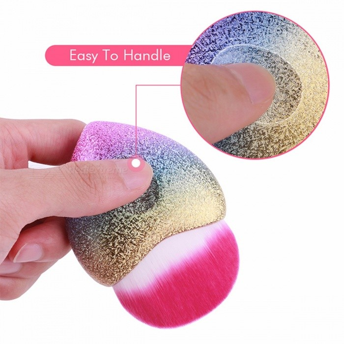 Docolor Portable Small High Quality Soft Rainbow Color Foundation Makeup Brush for Travel or Home Use
