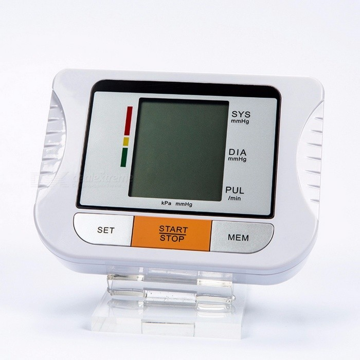 Yongrow Blood Pressure Monitoring Tonometer Fully Automatic Digital Upper Arm Blood Pressure Monitor BP Monitor Cuffs  22-32CMBlood Pressure Meters<br>Description<br><br><br><br><br>Item Type: Blood Pressure<br><br><br>Brand Name: yongrow<br><br><br><br><br>Commodity Quality Certification: CE<br><br><br>Application: Arm<br><br><br><br><br><br><br><br><br>Model Number: BP15 <br><br><br>Application: Arm <br><br><br>Size: 14*10.5*4.8cm <br><br><br>Battery: 6V 1.5V x 4AA size Alkaline <br><br><br>Measuring accuracy: Pressure:±3mmHg Pulse:±5% of reading <br><br><br>Measuring range: Pressure:0 to 299mmHg Pulse:40 to199 pulse/min <br><br><br>Inflation: Automatic by micro air pump <br><br><br>Deflation: Active electronic control value <br><br><br>Automatic power -off: Approx.3 minutes <br><br><br><br>Operation: &amp;nbsp; &amp;nbsp; &amp;nbsp; &amp;nbsp; &amp;nbsp; &amp;nbsp; &amp;nbsp; &amp;nbsp; &amp;nbsp; &amp;nbsp; &amp;nbsp; &amp;nbsp; &amp;nbsp; &amp;nbsp; &amp;nbsp; &amp;nbsp; &amp;nbsp; &amp;nbsp; &amp;nbsp; &amp;nbsp; &amp;nbsp; &amp;nbsp; &amp;nbsp; &amp;nbsp; &amp;nbsp; &amp;nbsp; &amp;nbsp; &amp;nbsp; &amp;nbsp; &amp;nbsp; &amp;nbsp; &amp;nbsp; &amp;nbsp; &amp;nbsp; &amp;nbsp; &amp;nbsp; &amp;nbsp; &amp;nbsp; &amp;nbsp; &amp;nbsp; &amp;nbsp; &amp;nbsp; &amp;nbsp; &amp;nbsp; &amp;nbsp; &amp;nbsp; &amp;nbsp; &amp;nbsp;<br><br><br>Step 1- preparation: wrap the cuff around the upper arm of your left hand.<br><br><br>&amp;nbsp;<br><br><br>Step 2- measuring: press the START/STOP button to start the measuring.<br><br><br>&amp;nbsp;<br><br><br>It measures your blood pressure and pulse rate quickly.<br><br><br>The device uses its advanced Intellisense for comfortable controlled inflation<br><br><br>without the need of pressure presetting or reinflation.<br><br><br>&amp;nbsp;<br><br><br>Specification:&amp;nbsp; &amp;nbsp; &amp;nbsp; &amp;nbsp; &amp;nbsp; &amp;nbsp; &amp;nbsp; &amp;nbsp; &amp;nbsp; &amp;nbsp; &amp;nbsp; &amp;nbsp; &amp;nbsp; &amp;nbsp; &amp;nbsp; &amp;nbsp; &amp;nbsp; &amp;nbsp; &amp;nbsp; &amp;nbsp; &amp;nbsp; &amp;nbsp; &amp;nbsp; &amp;nbsp; &amp;nbsp; &amp;nbsp; &amp;nbsp; &amp;nbsp; &amp;nbsp; &amp;nbsp; &amp;nbsp; &amp;nbsp; &amp;nbsp; &amp;nbsp; &amp;nbsp; &amp;nbsp; &amp;nbsp; &amp;nbsp; &amp;nbsp; &amp;nbsp; &amp;nbsp; &amp;nbsp;&amp;nbsp;<br><br><br><br><br><br><br>Display <br><br><br><br><br>LCD digital display <br><br><br><br><br><br><br>Measuring principle <br><br><br><br><br>Oscillometric method <br><br><br><br><br><br><br>Measuring localization <br><br><br><br><br>Upper arm <br><br><br><br><br><br><br>Measurement range <br><br><br><br><br>Pressure <br><br><br><br><br>0~299mmHg ( 0~39.9kPa) <br><br><br><br><br><br><br>Pulse <br><br><br><br><br>40~199 pulses/min <br><br><br><br><br><br><br>Accuracy <br><br><br><br><br>Pressure <br><br><br><br><br>+/-3mmHg (±0.4kPa) <br><br><br><br><br><br><br>Pulse <br><br><br><br><br>+/-5% of reading <br><br><br><br><br><br><br>LCD indication <br><br><br><br><br>Pressure <br><br><br><br><br>3 digits display of mmHg <br><br><br><br><br><br><br>Pulse <br><br><br><br><br>3 digits display <br><br><br><br><br><br><br>Symbol <br><br><br><br><br>Memory/Heartbeat/Low battery <br><br><br><br><br><br><br>Memory function <br><br><br><br><br>2x90 sets memory of measurement values <br><br><br><br><br><br><br>Power source <br><br><br><br><br>4pcs AA alkaline battery DC.6V or AC adapter; <br><br><br><br><br><br><br>Automatic power off <br><br><br><br><br>In 3 minutes <br><br><br><br><br><br><br>Main unit weight <br><br><br><br><br>Approx.254g(batteries not included) <br><br><br><br><br><br><br>Main unit size <br><br><br><br><br>L130mm x W109mm x H60mm <br><br><br><br><br><br><br>Main unit lifetime <br><br><br><br><br>10,000 times under normal use <br><br><br><br><br><br><br>Battery life <br><br><br><br><br>Could be used for 300 times for normal condition <br><br><br><br><br><br><br>Accessories <br><br><br><br><br>Cuff, instruction manual <br><br><br><br><br><br><br>Operating <br><br><br>environment <br><br><br><br><br>Temperature <br><br><br><br><br>5~40C <br><br><br><br><br><br><br>Humidity <br><br><br><br><br>15%~85%RH <br><br><br><br><br><br><br>Air pressure <br><br><br><br><br>86kPa~106kPa <br><br><br><br><br><br><br>Storage environment <br><br><br><br><br>Temperature -20C~55C ,Humidity :10% ~85% <br><br><br>avoid a crash, sunburn or rain during transportation. <br><br><br><br><br><br><br>&amp;nbsp;<br>