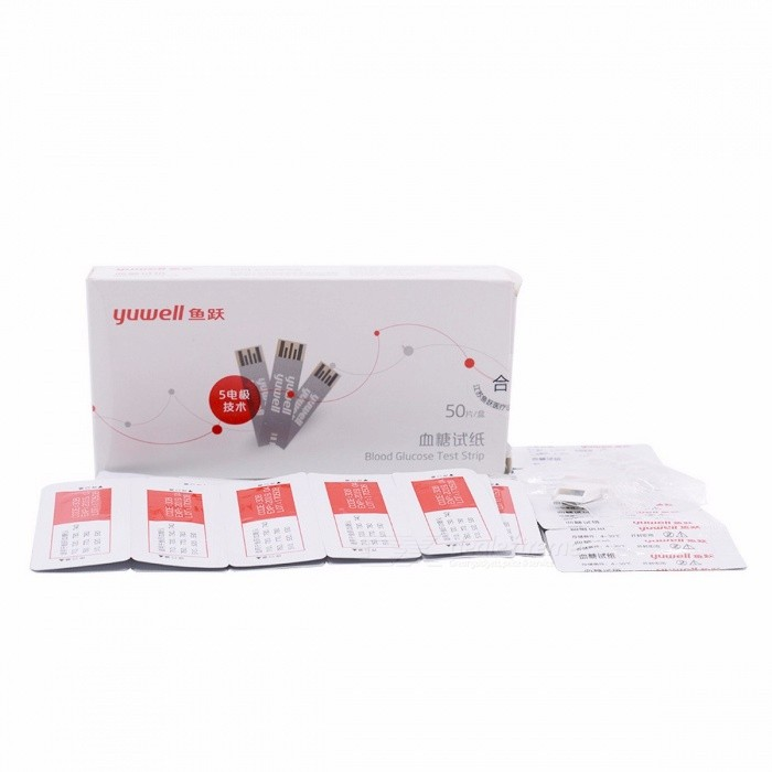 Yuwell Blood Glucose Test Strips and Sterile Lancets Used for Professional Health Monitors Diabetes Blood Glucose Meter