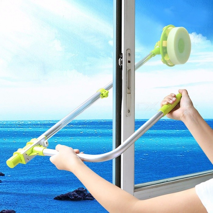 Buy Portable Extendable Telescopic High-rise Window Glass Cleaning Cleaner, Dust Brush for Washing Windows Windows Cleaner with Litecoins with Free Shipping on Gipsybee.com