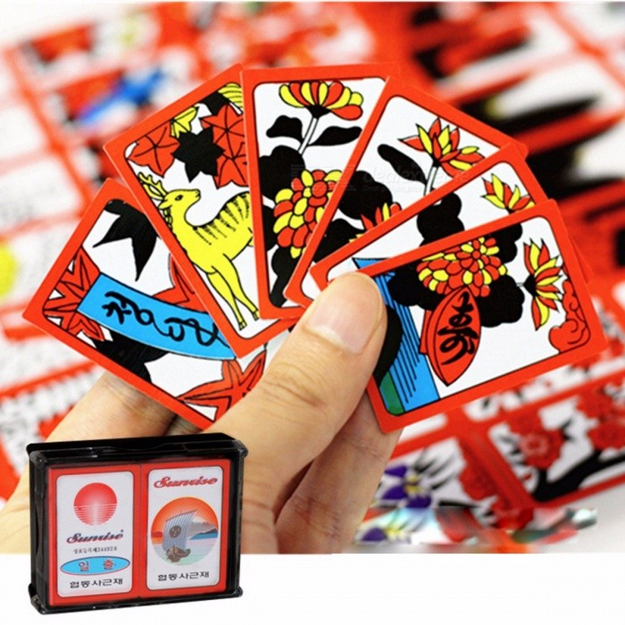 Japanese-Korean-PVC-Waterproof-Mahjong-Gostop-Go-Stop-Board-Game-Cards-Popular-Family-Party-Table-Game-Go-stop-Hanafuda-Cards-Colorful