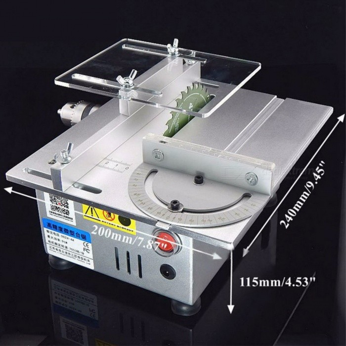 B12 Multifunctional Mini Table Saw Handmade Woodworking Bench Lathe Electric Polisher Grinder DIY Model Cutting Saw Drill Chuck