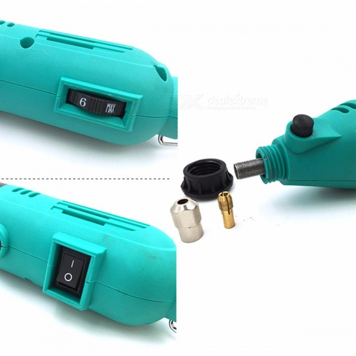 GOXAWEE 130W Dremel Style Variable Speed Electric Rotary Tool, Electric Mini Drill Grinder with Power Tool Accessories