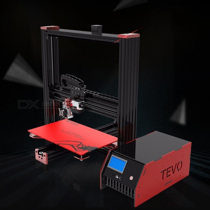 New TEVO Black Widow Large Printing Area 370*250*300mm OpenBuild Aluminium Extrusion 3D Printer Kit with MKS Mosfet