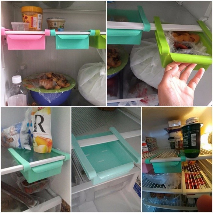 Hoomall 16.5x15cm Creative Refrigerator Storage Box, Fresh Spacer Layer Storage Rack Drawer Kitchen Tool