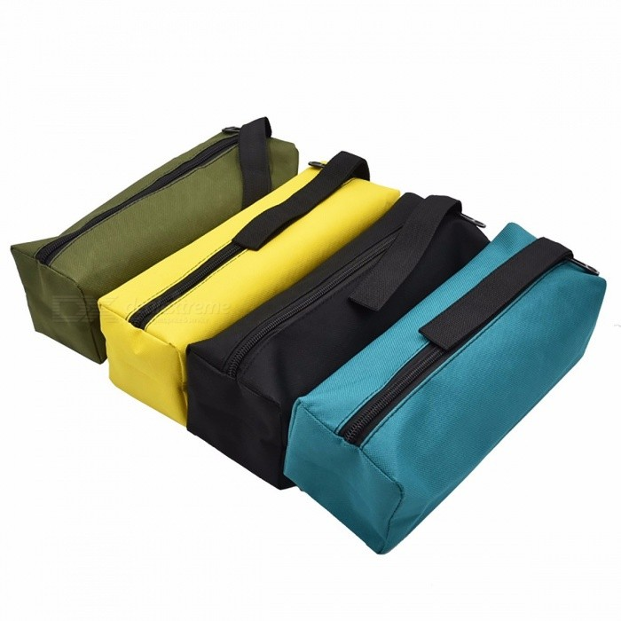Oxford Canvas Waterproof Storage Hand Tool Bag, Screws Nails Drill Bit Metal Parts Fishing Travel Makeup Organizer Pouch Case