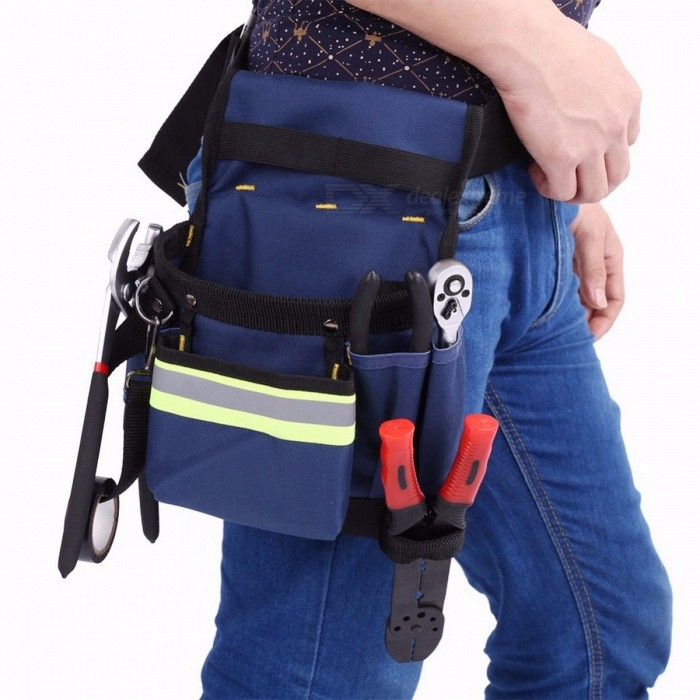 Electrician-Mens-Waist-Bag-Multi-Pocket-Tool-Holder-for-Hand-Tool-Screwdriver-Convenient-Work-Organizer-Pouch-blue