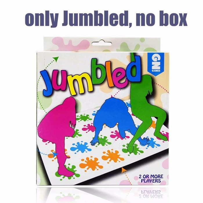 "Hot Sale Popular Board Game, Classic Twister Game ""That Ties You Up In Knots"" Board Game for Family and Children Jumbled No Box"