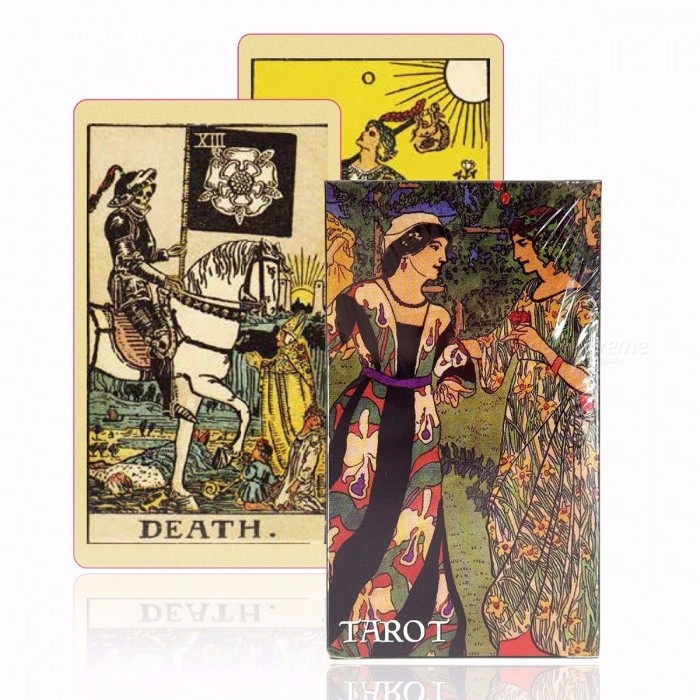 English Version Smith-Waite Tarot Deck, Old-Fashioned Color Centennial Tarot Cards Game, Board Game Toy