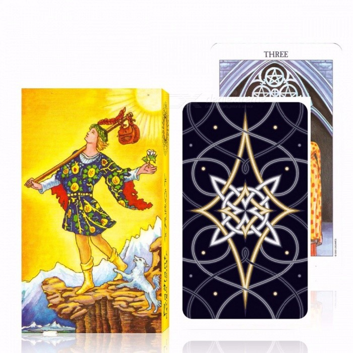High Quality Portable Full English Version Rider Tarot Deck, Most Popular Tarot Cards Board Game for Family Children