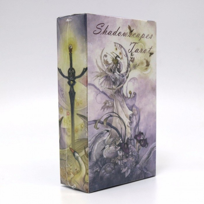 Shadowscapes Tarot Cards Game, 78 Cards Deck Raindrop Water Proof Tarot Board Gaming Toy for Family Friends