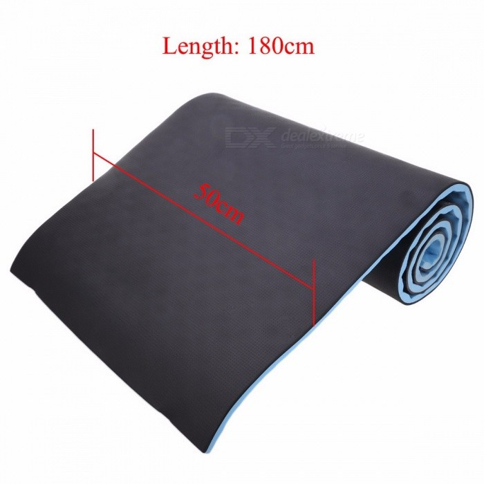 15mm 50x180cm Folding Yoga Mat Pad with Carrying Straps for Fitness Exercise Pilates Home GYM Training, Outdoor Camping