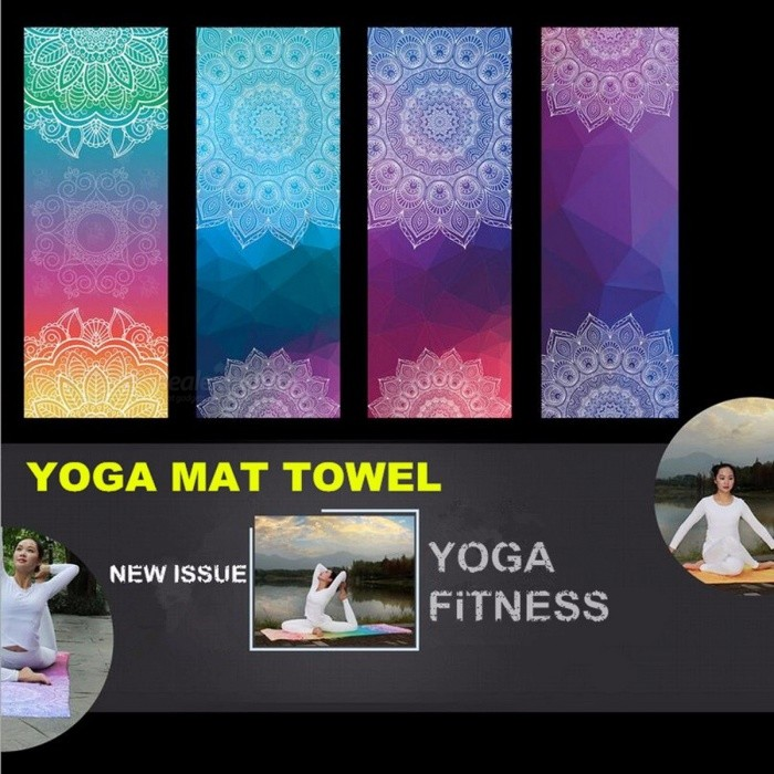 Portable Retro Style Soft Yoga Mat Towel, Sport Fitness Gym Exercise Pilates Workout Training Pad Cover Blanket  BlueDescription<br><br><br><br><br>Length: 183cm*61cm<br><br><br>Brand Name: AMYOGA<br><br><br><br><br>Thickness: 1mm<br><br><br>Material: Other<br><br><br><br><br><br><br><br><br><br><br><br>Product information:<br><br><br>Material: 80% polyester, 20 nylon<br><br><br>Size: (long) 183CM+ (width) 63CM<br><br><br>Weight: 300g<br><br><br>Feature:Non slip, sweat absorption, antibacterial<br><br><br>1.Small square anti-skid, increase friction, beautiful<br><br><br>2.High quality, exquisite workmanship, durable and non deformation.<br><br><br>&amp;nbsp;<br><br><br>Yoga mat towel can be used as a portable Yoga Mat Cover:<br><br><br>1.because of its light weight, easy to play, outdoor yoga, Mountain Yoga, seaside yoga.<br><br><br>2.Yoga<br> and other ordinary PVC yoga mat, if not very convenient, you can take <br>the upper towel, tile on the ground or grassland, beach, the tree <br>particles down tile, in which you can easily do yoga.<br><br><br>3, quickly absorb sweat and dust, so that the body is always in a clean and comfortable yoga state.<br><br><br>&amp;nbsp;<br><br><br>NOTICE:<br><br><br>&amp;nbsp;<br><br><br>1.Due to hand measure, the size may have 1-3 cm error.<br> 2.Due to Different Monitor, the color may have difference.<br>3.This product belongs to the super fiber made of yoga towel, not yoga mat. The thickness of the product is 1mm.<br>