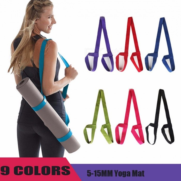 Portable Durable Ajustable Yoga Mat Sling, Sports Fitness Gym Carrier Shoulder Carrying Canvas Cotton Belt Strap GreenDescription<br><br><br><br><br>Material: TPE<br><br><br>Thickness: 4 mm (Senior Type)<br><br><br><br><br>Brand Name: RUNSTAR<br><br><br>Length: Other<br><br><br><br><br><br><br><br><br><br><br>100% New Brand and High Quality<br> Material:Cotton<br> Color:Black/Dark blue/Dark purple/Green/Orange/Pink/Purple/Red/Rose red<br> Size:183*3.8cm*0.23cm<br><br> Features:<br> .Carrying strap for storing yoga mat.<br> .Made of cotton and linen, durable and lightweight.<br> .Strap with adjustable loops/belt closures on both ends to secure any size of yoga mat.<br> .Let mat air out and reduce odor as well as prevent bacteria growth.<br> .Also can be used as yoga strap to master yoga poses and other fitness exercises.<br> .Great for keeping your hands free and keeping mat from unrolling.<br><br> Package included:<br> 1x Yoga Mat Strap<br>