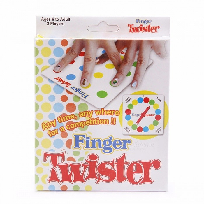 "Finger Twister Portable Interesting Funny ""Dance on Fingers"" Family Toy Board Game with Box for Children Adults Colorful"