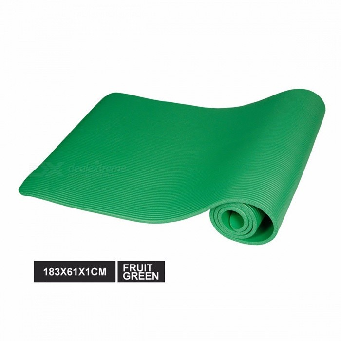 183 x 61 x 1cm Multifunctional Non-slip NBR Yoga Mat, 10mm Thickness Anti-skid Gym Pilate Yoga Pad for Exercise Fitness