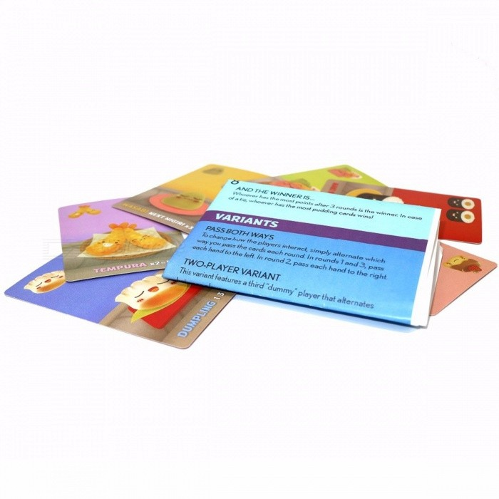 Hot Portable Sushi Go Card Game, Full English Version Board Game, Suitable for Children and Family Playing