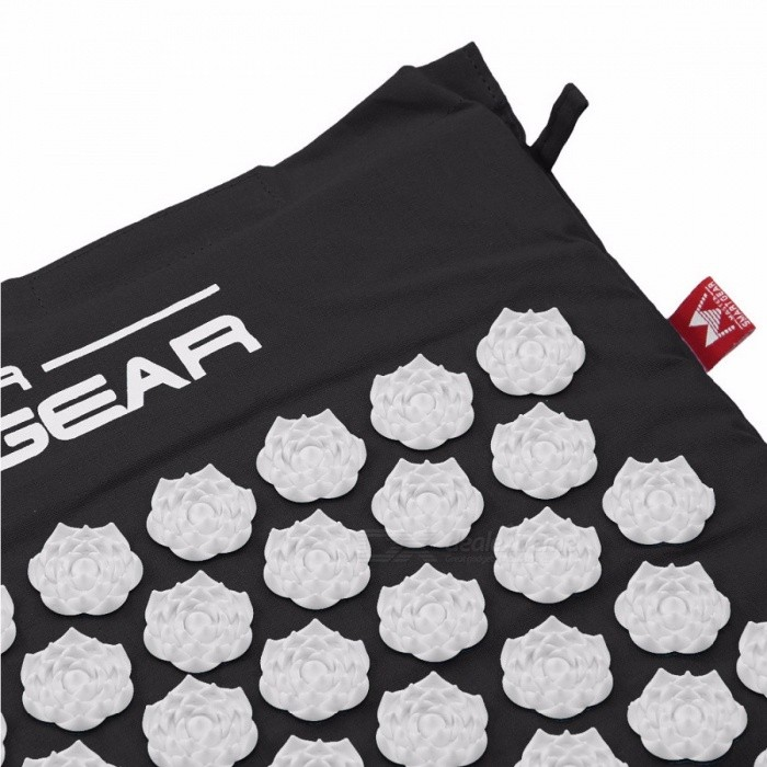 Lotus Acupressure Mat for Relieving Stress Pain, Massage Cushion for Back Neck Hip Pain with Storage Bag