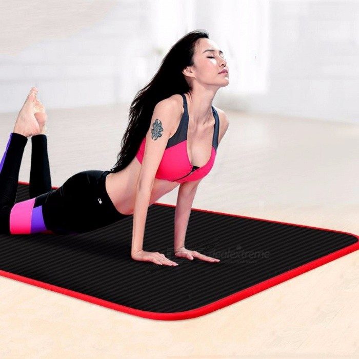 Multifunctional 183*60*10cm Edge Covered Non-slip 10mm Sports Yoga Mat Pad, Fitness Gym Colchonete Mat for Junior