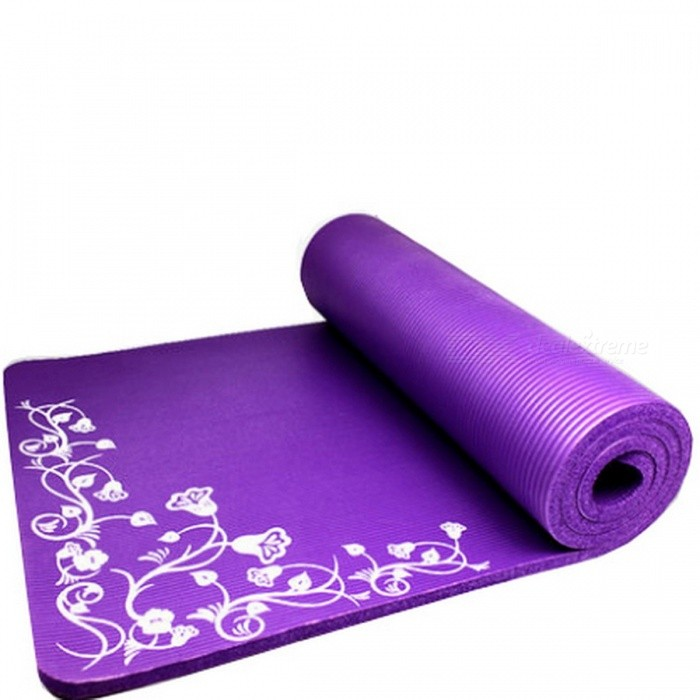 Buy ENNJOI New Design 15mm Thickness Slim Printing Yoga Mat, Non-slip Tasteless Thickening Exercise Fitness Mat Pad Purple with Litecoins with Free Shipping on Gipsybee.com