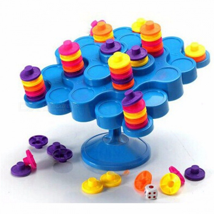 New-Topple-Balance-Game-Dont-Let-Topple-As-You-Try-To-Score-Points-Great-Family-Activity-Board-Game-for-Kids-Children-Colorful