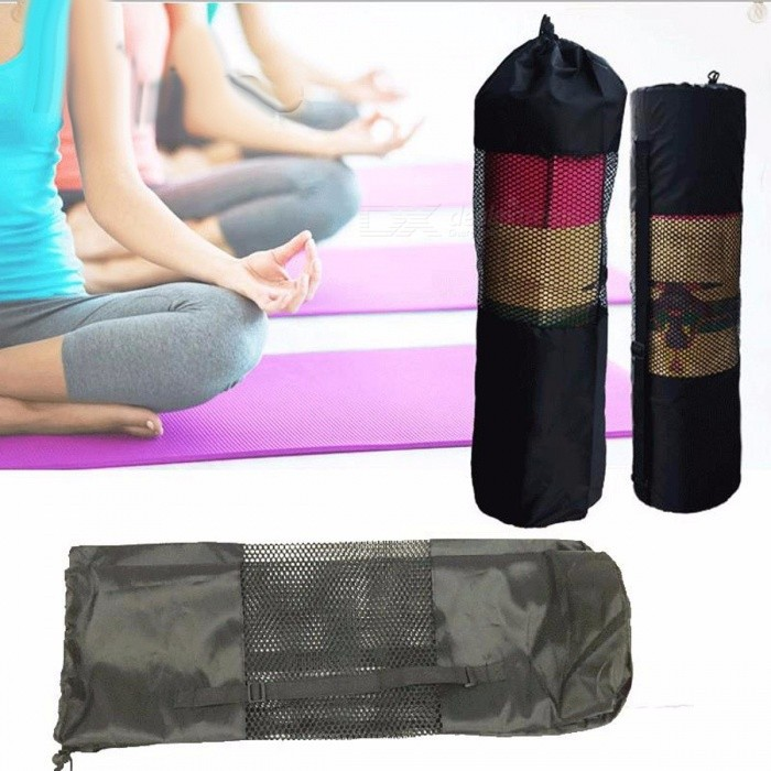 New Convenient Waterproof Yoga Mat Storage Bag Backpack, Nylon Pilates Carrier with Mesh Design, Adjustable Strap