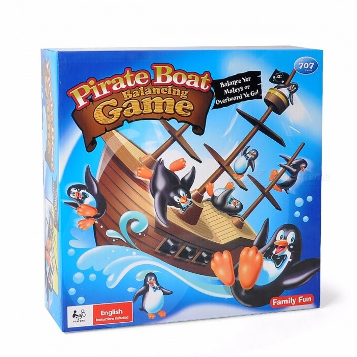 Thrilling Penguin Pirate Ship Creative Toy,