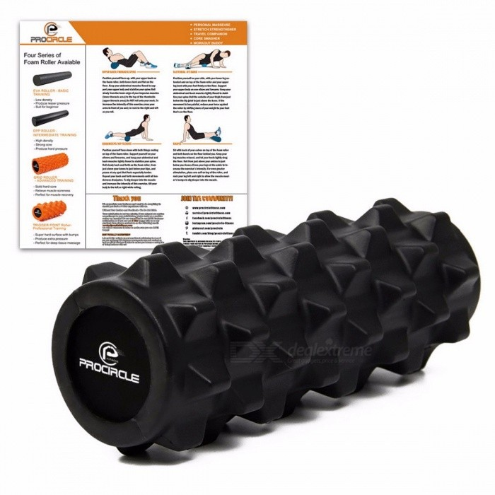 ProCircle 12.5'' Deep Tissue Massage Foam Roller, Extra Firm for Yoga Pilates Fitness Gym Physiotherapy Rehabilitation