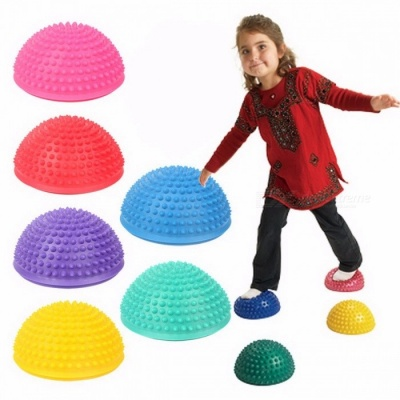 16cm Diameter Inflatable Plum Pile Educational Toy for Kids, Sports Parent-child Interactive Games Semicircle Massage Ball green