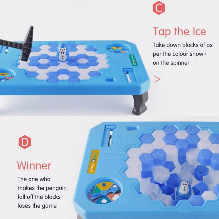 Penguin Trap Puzzle Table Game, Balance Ice Breaking Cubes, Save the Penguin Interactive Family Game Toy