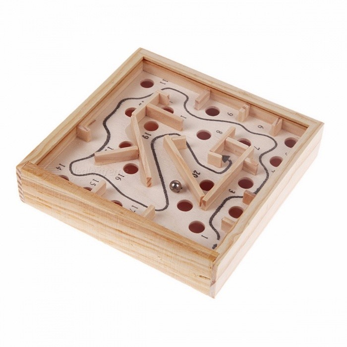 Creative Wooden Math Block Toy for Baby Children, Maze Beads Board Intellectual Development Balance/Hands Grasp Intelligence Toy WoodenTable Games<br>Description<br><br><br><br><br>Type: Blocks <br><br><br>Gender: Unisex <br><br><br><br><br>Age Range: & 3 years old <br><br><br>Brand Name: JOCESTYLE <br><br><br><br><br>Barcode: No <br><br><br>Material: Wood <br><br><br><br><br>Certification: 3C <br><br><br>Wood Block Type: Geometric Assembling Blocks <br><br><br><br><br><br><br><br><br><br><br><br><br><br>Name:12 x 12 Ball Maze Games<br><br><br><br><br><br><br><br>Material: Wooden <br><br><br><br><br><br><br>Adaptation:3 years of age <br>The main material:high-quality pine. <br>Product Unit: 1 <br>Product Origin:Zhejiang <br>Product Size: about 11.5x11.5x2.5cm<br><br><br><br><br>Introduction: first with a ball placed on the 1st place in the<br> end, roll the beads along the route, and then slide forward along the <br>gap step by step; once the beads have to be very careful Hole slide, <br>otherwise it will fall hole, the council failed. Only when the beads to <br>slide the end, only it represents victory. The ball moved to the start <br>line, by moving the handle back and forth around the game board, so that<br> ball forward along the roadmap slide, ball fall into the trap of going <br>over again Oh, to complete the entire route, and finally reach the <br>destination, count your success. &amp;nbsp;ultivate practical skills from the <br>game, brain exercise hand-eye balance control. Game interesting, <br>difficult, is a development of the brain and the hand-eye coordination, <br>balance training game toys, family games helps improve parent-child <br>affection.<br><br><br><br><br><br>How long has it away from the computer, away from the office, <br>Events hands and feet? All day typing, mouse operation, are not hands <br>are stiff? Remember as a child how flexible body? Come and activity of <br>your hand and eye, start your brain, not rigid, not rigid. Move, play <br>together. <br>Children to play, you can train the childs ability, balance, strengthen the childs patience.<br><br><br><br><br><br>How to play: The small iron beads placement (start) end, roll <br>the beads along the route; in the rolling process, mainly by hand <br>balance control, to control the rolling iron beads; final decision on <br>whether it can reach the end. <br>undefined<br>