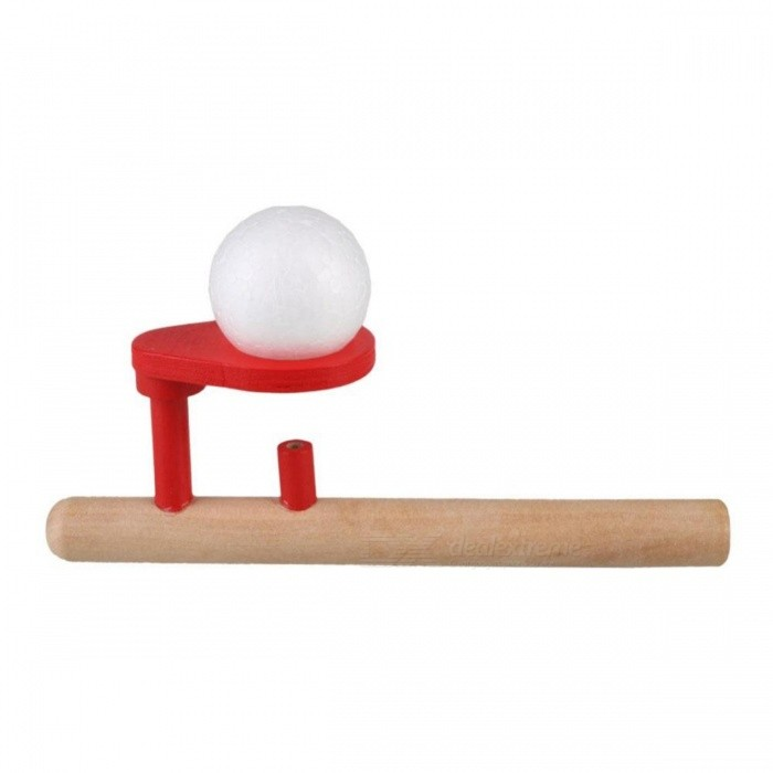 Portable Wooden Blowing Balance Folating Ball Game, Flute Shape Blow Educational Toy for Kids, Children