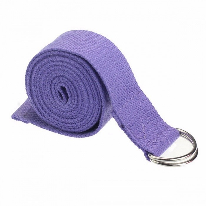 New Cotton Yoga Stretch Strap D-Ring Belt, Fitness Exercise Gym Rope, Figure Waist Leg Resistance Fitness Band