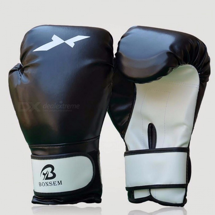 1 Pair Training Boxing Hand Protector Gloves, New Style Boxing Mitts for Sanda Karate Sandbag Taekwondo Fighting