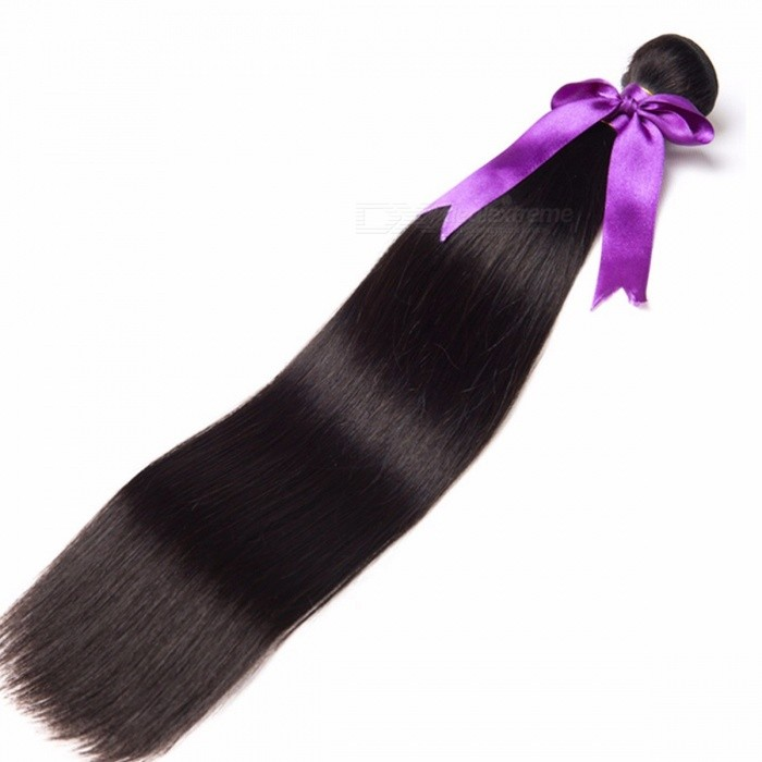 RUIYU Natural Color Peruvian Long Straight Hair Bundles, Double Weft Non Remy Human Hair Weave Extensions Natural Color/26inches