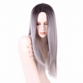 AISI-BEAUTY-Premium-High-Temperature-Fiber-Long-Straight-False-Hair-Synthetic-Ombre-Wig-for-Women-Girls-26inches