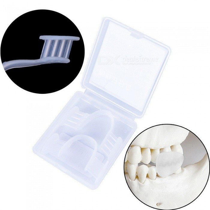 Mouth Guard Prevent Night Teeth Grinding Clenching Bruxism Splint Sleep Aid Eliminates with Case Box for Boxing Basketball